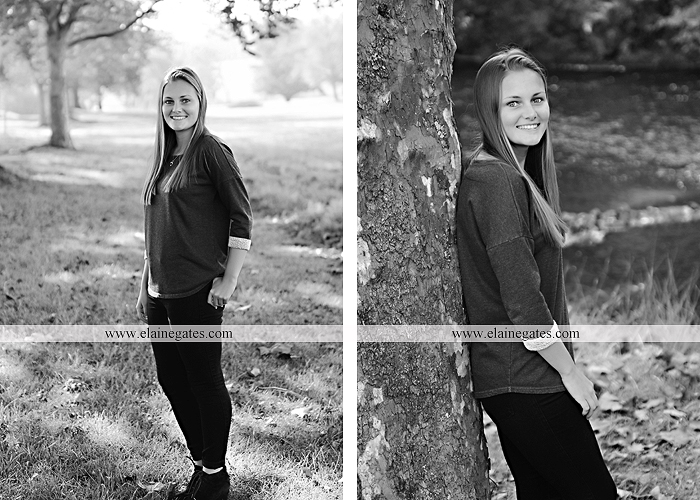 Mechanicsburg Central PA senior portrait photographer outdoor girl female road trees field water stream creek fall fence kg 4
