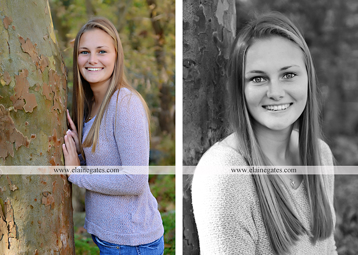 Mechanicsburg Central PA senior portrait photographer outdoor girl female road trees field water stream creek fall fence kg 7