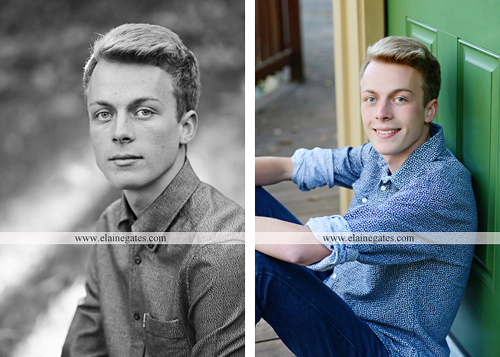 Mechanicsburg Central PA senior portrait photographer outdoor guy male stone wall ivy mums stairs wooden bridge trees grass door leaves path jg 4