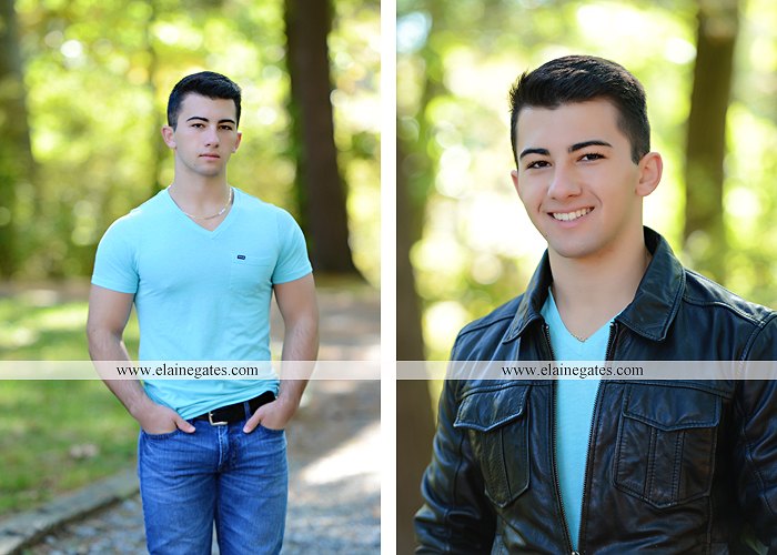 Mechanicsburg Central PA senior portrait photographer outdoor studio formal male guy bridge road trees water stream creek covered bridge wooden beams messiah college path va 6