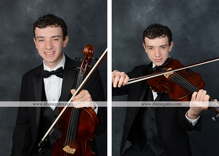 Mechanicsburg Central PA senior portrait photographer outdoor studio formal male guy violin rustic bridge grass trees covered bridge messiah college wooden beams jb 1