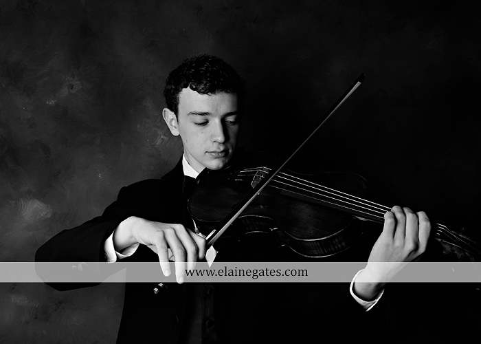 Mechanicsburg Central PA senior portrait photographer outdoor studio formal male guy violin rustic bridge grass trees covered bridge messiah college wooden beams jb 2