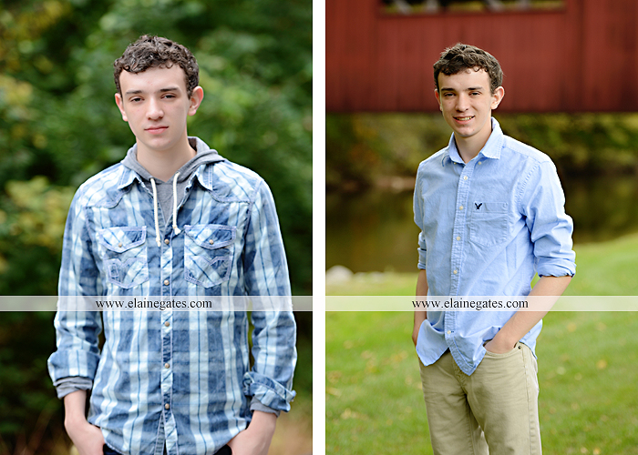 Mechanicsburg Central PA senior portrait photographer outdoor studio formal male guy violin rustic bridge grass trees covered bridge messiah college wooden beams jb 4