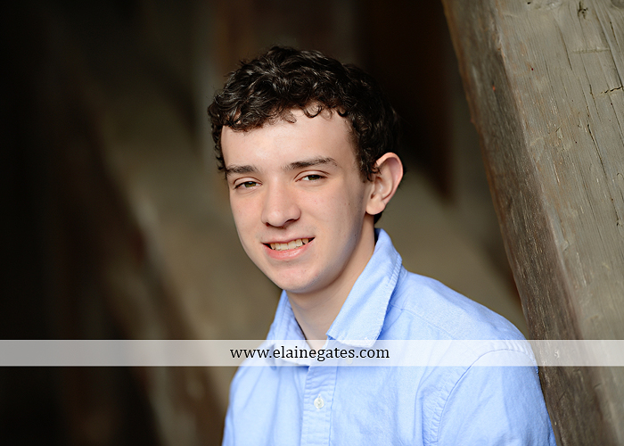 Mechanicsburg Central PA senior portrait photographer outdoor studio formal male guy violin rustic bridge grass trees covered bridge messiah college wooden beams jb 5