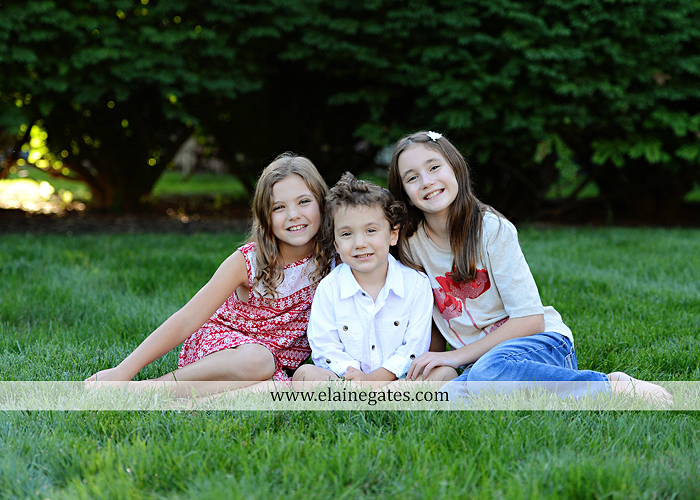 Mechanicsburg Central PA family portrait photographer outdoor children boy girls son daughters mother father husband wife grass road fence water stream creek leaves fall mf 07