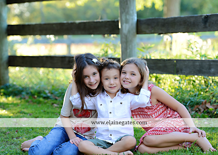 Mechanicsburg Central PA family portrait photographer outdoor children boy girls son daughters mother father husband wife grass road fence water stream creek leaves fall mf 11