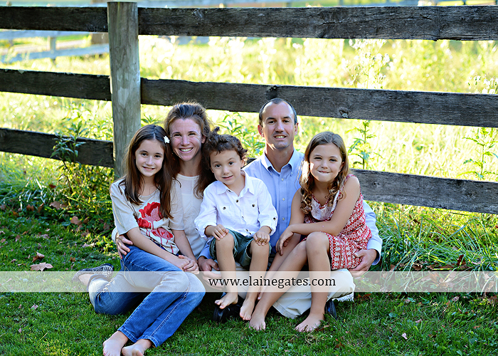 Mechanicsburg Central PA family portrait photographer outdoor children boy girls son daughters mother father husband wife grass road fence water stream creek leaves fall mf 12