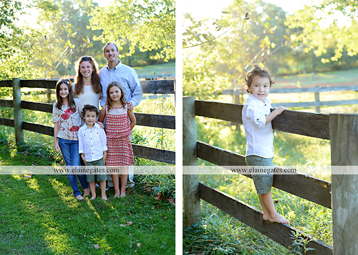 Mechanicsburg Central PA family portrait photographer outdoor children boy girls son daughters mother father husband wife grass road fence water stream creek leaves fall mf 13