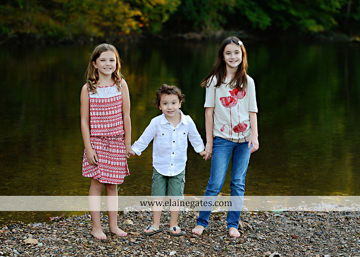 Mechanicsburg Central PA family portrait photographer outdoor children boy girls son daughters mother father husband wife grass road fence water stream creek leaves fall mf 19