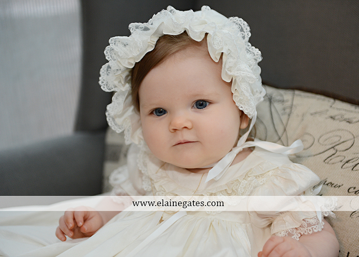 Mechanicsburg Central PA newborn baby portrait photographer girl indoor chair mother father dog quilt bed crib dress dj 1