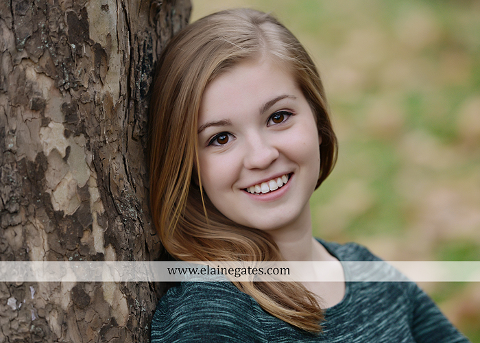 Mechanicsburg Central PA senior portrait photographer outdoor girl female road field fence water stream creek leaves fall hammock wooden swing grass rocks mp 02