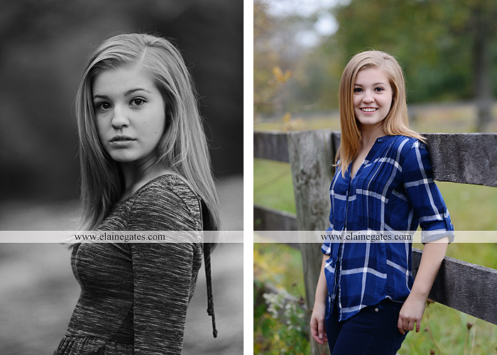 Mechanicsburg Central PA senior portrait photographer outdoor girl female road field fence water stream creek leaves fall hammock wooden swing grass rocks mp 03