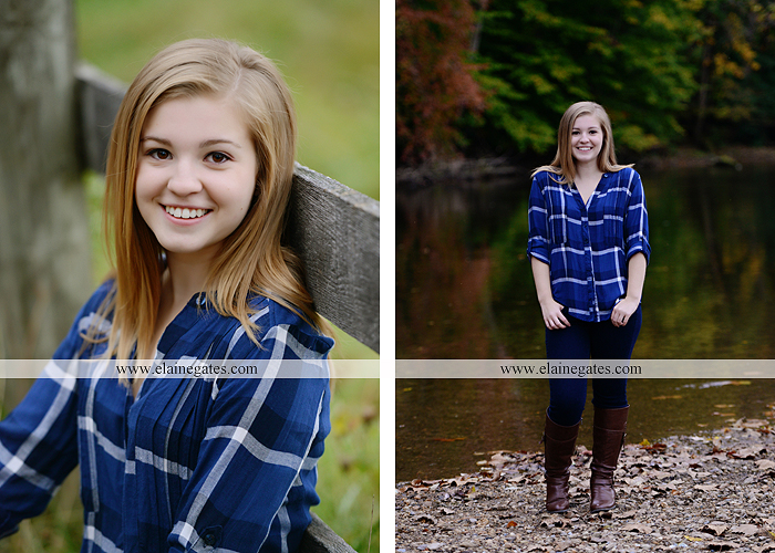 Mechanicsburg Central PA senior portrait photographer outdoor girl female road field fence water stream creek leaves fall hammock wooden swing grass rocks mp 04