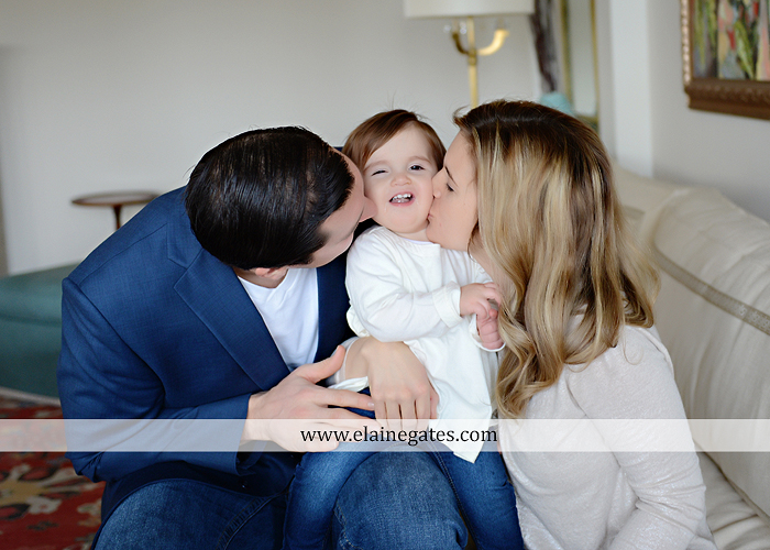 Mechanicsburg Central PA baby child portrait photographer girl indoor chair mother father dog family rug kiss couch js 2
