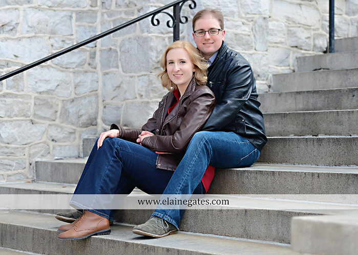 Mechanicsburg Central PA engagement portrait photographer outdoor harrisburg city steps market street bridge stone wall brick wall ring civic club rl 01