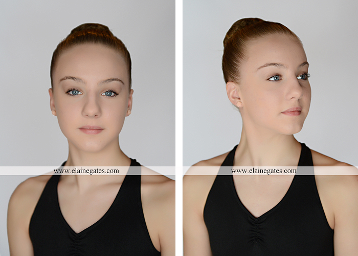 Mechanicsburg Central PA teenager portrait photographer indoor studio girl ballet dance posing headshot jw 1