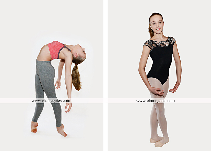 Mechanicsburg Central PA teenager portrait photographer indoor studio girl ballet dance posing headshot jw 4