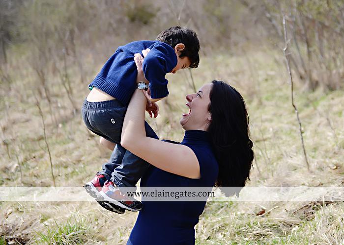 Mechanicsburg Central PA kids children portrait photographer outdoor boy mother grass field water creek stream kiss hug family rocks lh 3