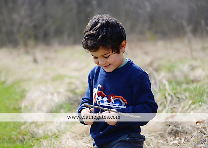 Mechanicsburg Central PA kids children portrait photographer outdoor boy mother grass field water creek stream kiss hug family rocks lh 4