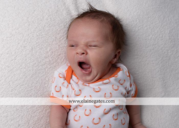 Mechanicsburg Central PA newborn baby portrait photographer girl sleeping indoor blanket bow knit hat pail bowl chair dp 10