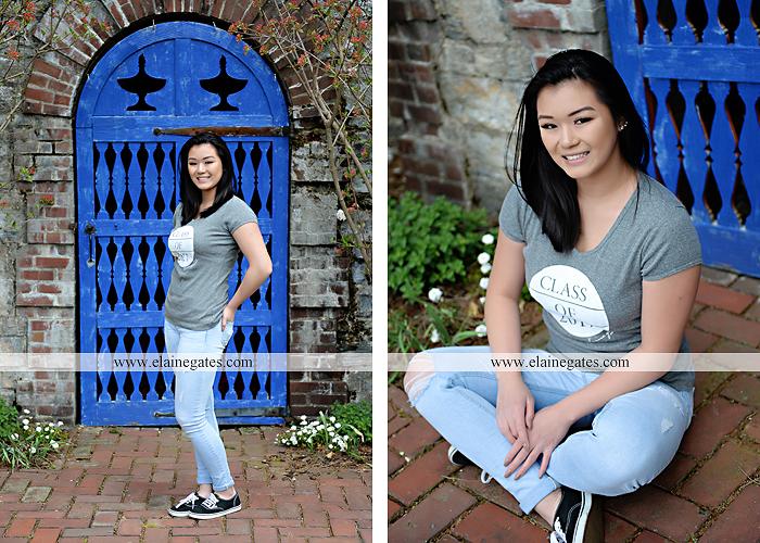 Mechanicsburg Central PA senior portrait photographer outdoor girl female Venue Chilton brick wall stone wall gate east pennsboro high school bk 3