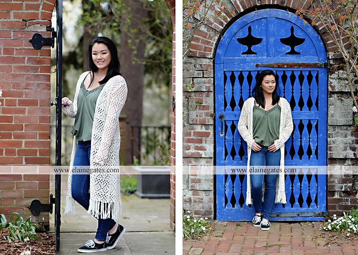 Mechanicsburg Central PA senior portrait photographer outdoor girl female Venue Chilton brick wall stone wall gate east pennsboro high school bk 4