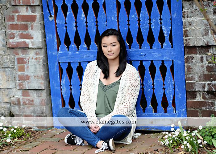 Mechanicsburg Central PA senior portrait photographer outdoor girl female Venue Chilton brick wall stone wall gate east pennsboro high school bk 5