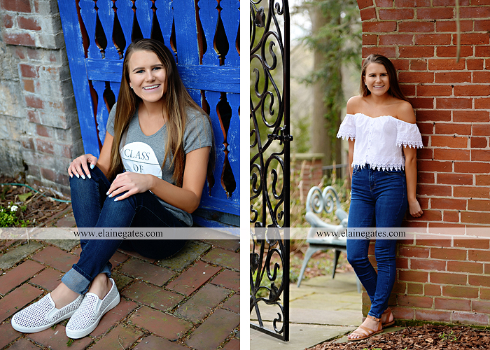 Mechanicsburg Central PA senior portrait photographer outdoor girl female Venue Chilton brick wall stone wall stone arch road trees steps CVHS cumberland valley school district gs 2