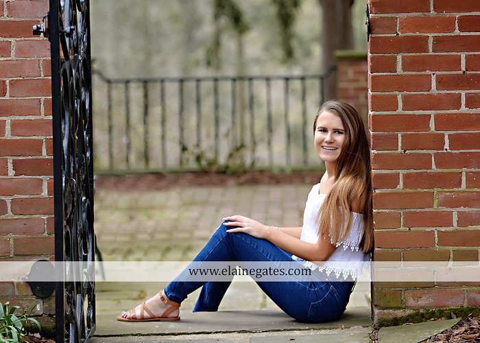 Mechanicsburg Central PA senior portrait photographer outdoor girl female Venue Chilton brick wall stone wall stone arch road trees steps CVHS cumberland valley school district gs 3