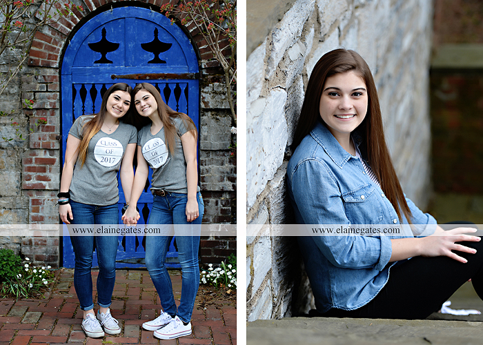 Mechanicsburg Central PA senior portrait photographer outdoor girl female Venue Chilton brick wall stone wall stone arch steps iron gate  red land high school RLHS k 3