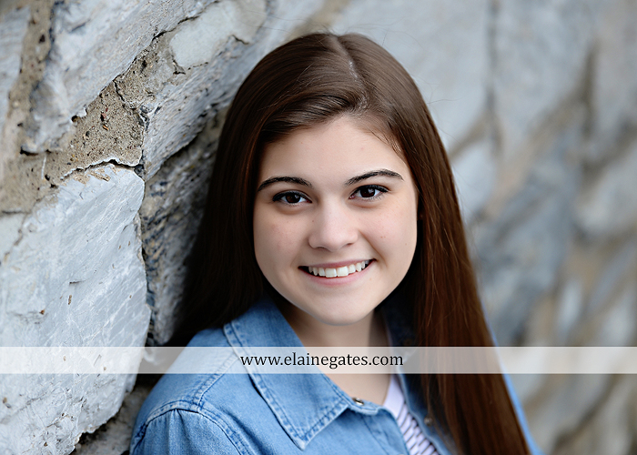 Mechanicsburg Central PA senior portrait photographer outdoor girl female Venue Chilton brick wall stone wall stone arch steps iron gate  red land high school RLHS k 4