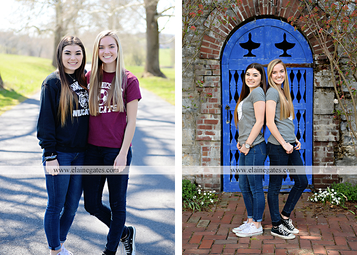 Mechanicsburg Central PA senior portrait photographer outdoor girl female Venue Chilton road trees brick wall stone wall stone arch steps iron gate MASH mechanicsburg area senior high nl 1