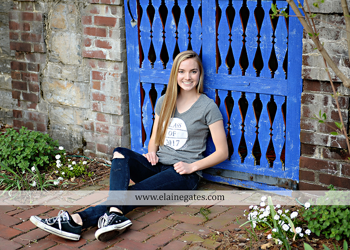 Mechanicsburg Central PA senior portrait photographer outdoor girl female Venue Chilton road trees brick wall stone wall stone arch steps iron gate MASH mechanicsburg area senior high nl 2