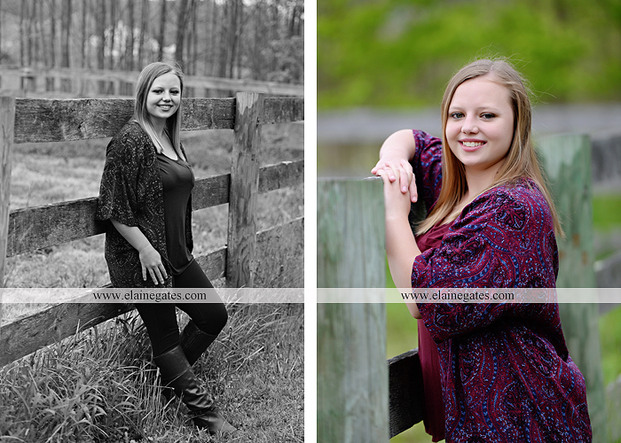 Mechanicsburg Central PA senior portrait photographer outdoor girl female field grass trees flowers road fence water stream creek rock mother mom as 4