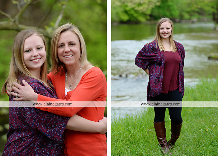 Mechanicsburg Central PA senior portrait photographer outdoor girl female field grass trees flowers road fence water stream creek rock mother mom as 8