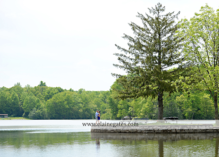 Mechanicsburg Central PA engagement portrait photographer outdoor boat lake pinchot state park Lewisberry dock water path trail wildflowers field hug kiss as 05