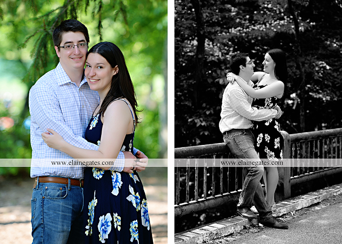 Mechanicsburg Central PA engagement portrait photographer outdoor water stream creek trees path bridge covered bridge messiah college hug kiss tt 5
