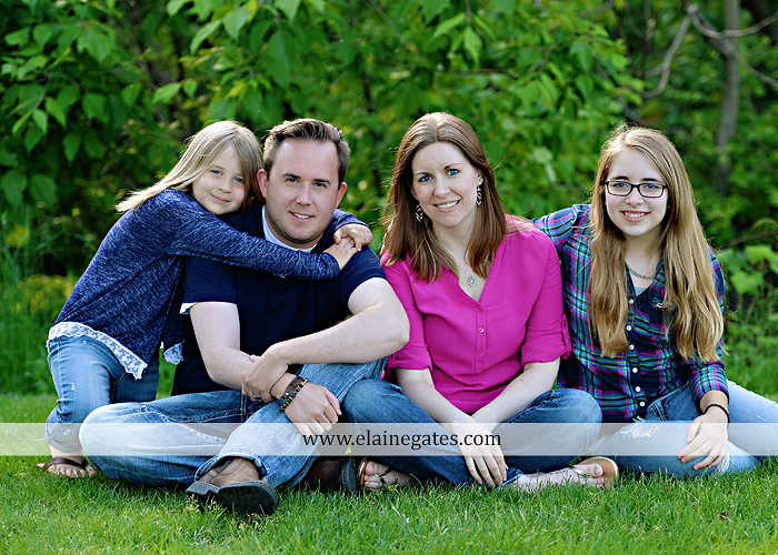 Mechanicsburg Central PA family portrait photographer outdoor children girls sisters mother father mom dad grass path water creek stream shore trees woods steps flowers sb 06