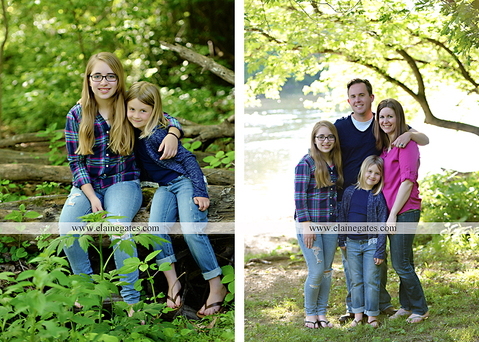 Mechanicsburg Central PA family portrait photographer outdoor children girls sisters mother father mom dad grass path water creek stream shore trees woods steps flowers sb 11