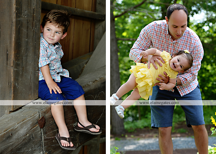 Mechanicsburg Central PA family portrait photographer outdoor children kids mother father grass trees water stream creek rocks covered bridge messiah college wildflowers wooden beams sf10