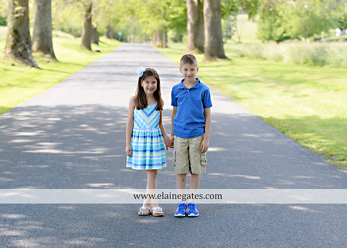 Mechanicsburg Central PA kids children portrait photographer outdoor boy girl brother sister siblings road field trees water stream creek rocks hug grass ad 01