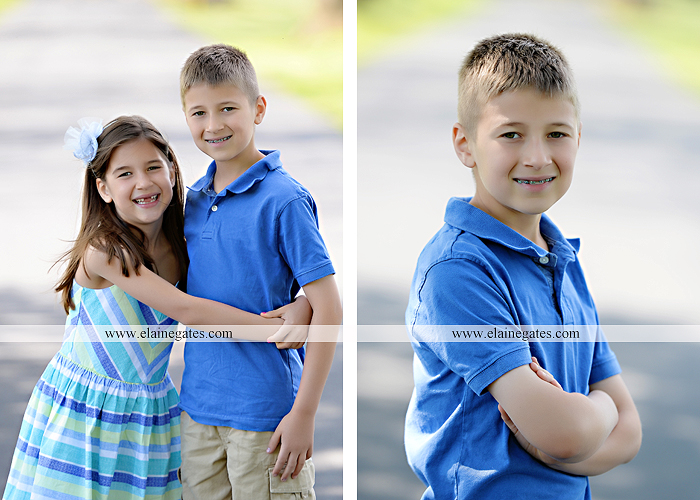 Mechanicsburg Central PA kids children portrait photographer outdoor boy girl brother sister siblings road field trees water stream creek rocks hug grass ad 02