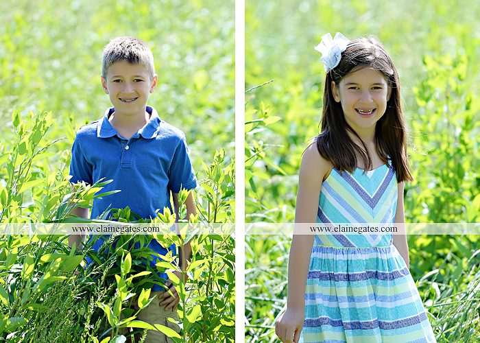 Mechanicsburg Central PA kids children portrait photographer outdoor boy girl brother sister siblings road field trees water stream creek rocks hug grass ad 03