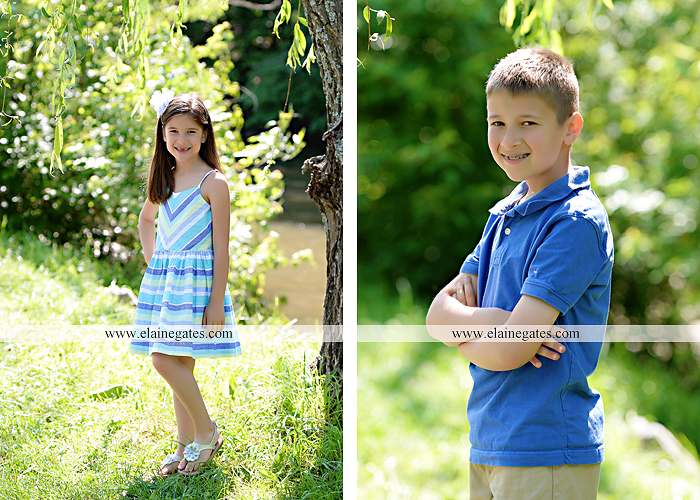 Mechanicsburg Central PA kids children portrait photographer outdoor boy girl brother sister siblings road field trees water stream creek rocks hug grass ad 07