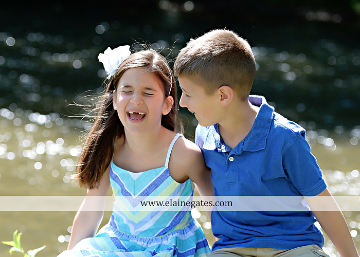 Mechanicsburg Central PA kids children portrait photographer outdoor boy girl brother sister siblings road field trees water stream creek rocks hug grass ad 10