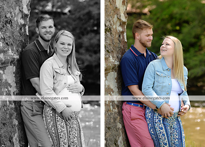 Mechanicsburg Central PA portrait photographer maternity outdoor field road tree water stream creek path holding hands hug kiss ole miss  baby bump cp 4