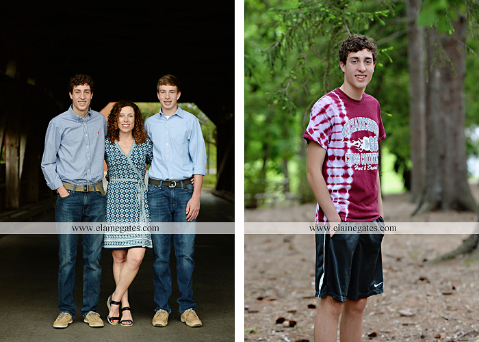Mechanicsburg Central PA senior portrait photographer outdoor boy guy family brothers mom dad trees path field grass covered bridge messiah college track cross country running athlete at 11
