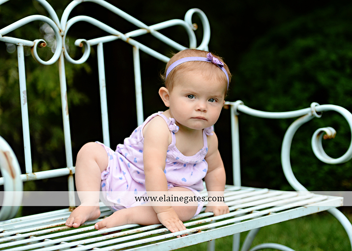 Mechanicsburg Central PA baby child portrait photographer girl grass iron bench mom mommy mother bow tutu sr 3