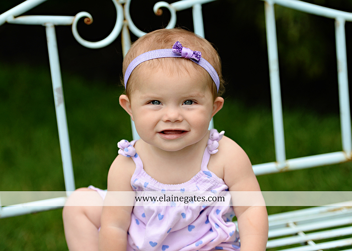 Mechanicsburg Central PA baby child portrait photographer girl grass iron bench mom mommy mother bow tutu sr 5