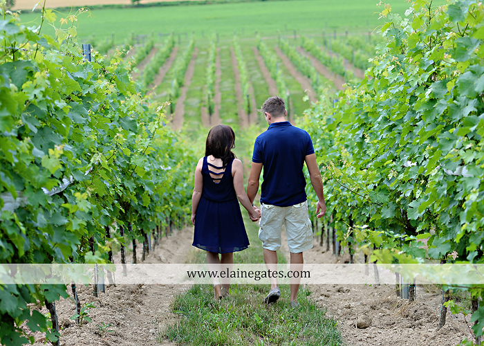 Mechanicsburg Central PA engagement portrait photographer outdoor orchard vineyard trees wildflowers fence field wood wall hug kiss holding hands mustang car aw 01